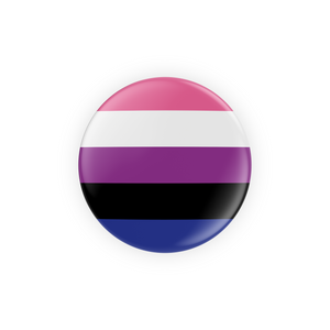 LBGTQIA+ Pride Flag Pin-Back Buttons