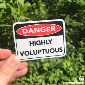 Danger Highly Voluptuous Sign Stickers