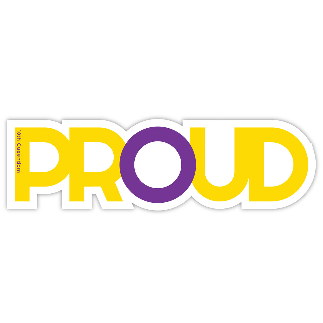 Intersex PROUD - Premium Matte Waterproof Bubble-Free Vinyl Decal Laptop Sticker