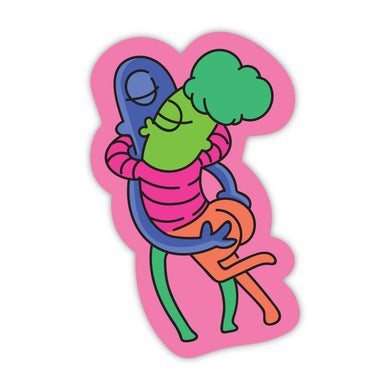Kissing Aliens Stickers