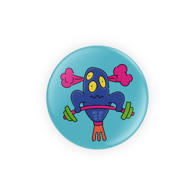 Weight Lifting Alien Pins