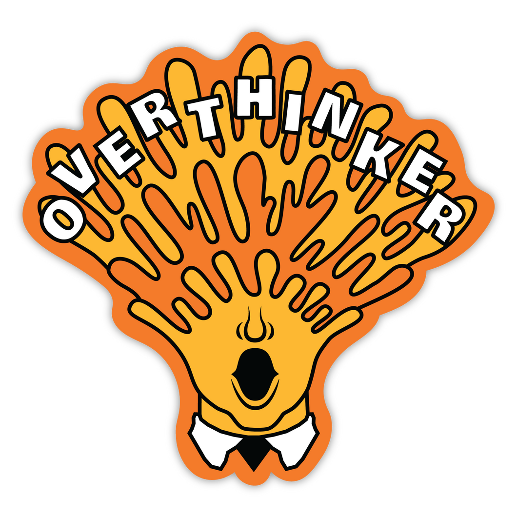 Over-Thinker Head Exploding Sticker