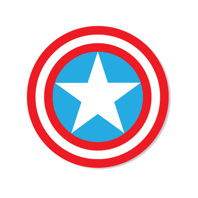Patriotic Star and Stripes Circle Stickers