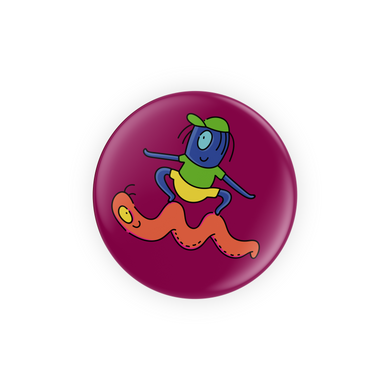 Alien Skating on a Single Eyed Snake Pins