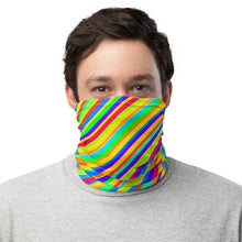 Load image into Gallery viewer, 10th Queendom Rainbow Stripe Neck Gaiter