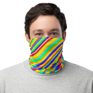 10th Queendom Rainbow Stripe Neck Gaiter