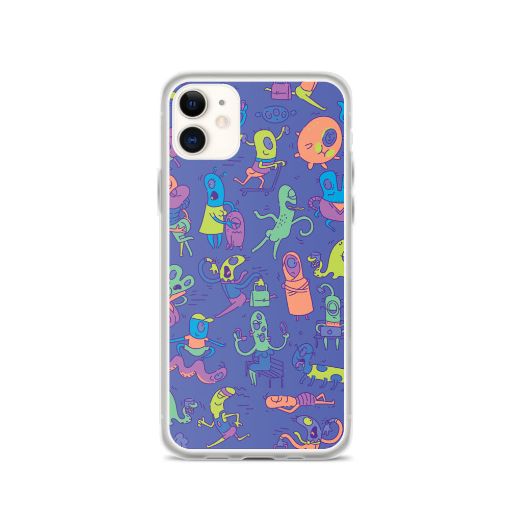 We're All Aliens Here iPhone Case in Pastel