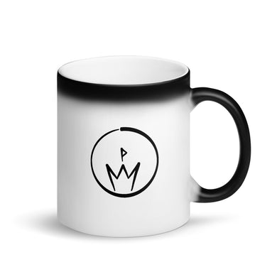 10th Queendom Logo Matte Black Magic Mug