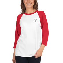 Load image into Gallery viewer, 10th Queendom Logo 3/4 Sleeve Raglan Shirt