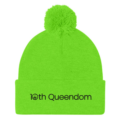 10th Queendom Wordmark Pom-Pom Beanie