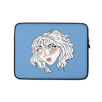 10th Queendom Blushing Scarred Girl Laptop Sleeve