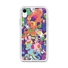 Load image into Gallery viewer, We're All Aliens Here iPhone Case by Nikolett Mérész [Overlapping Alien Design]