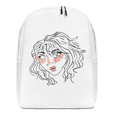 10th Queendom Blushing Scarred Girl Minimalist Backpack