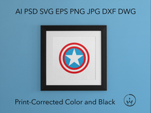 Load image into Gallery viewer, Patriotic American Svg Ai Pdf Jpg Png Eps Psd Dxf Dwg Layered Silhouette Cricut Vector Die Cut & Sublimation Files Instant Digital Download