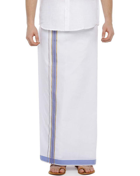 Viswasam - Purple Fancy Single Dhoti