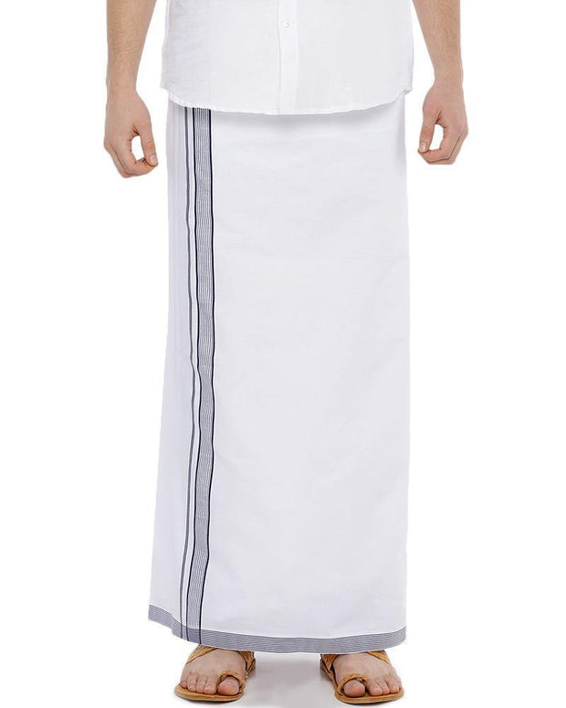 Geneva - Navy Blue Fancy Single Dhoti