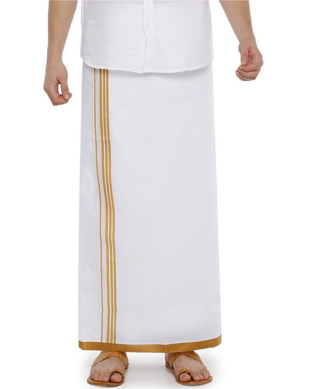 Bansi - Yellow Fancy Double Dhoti