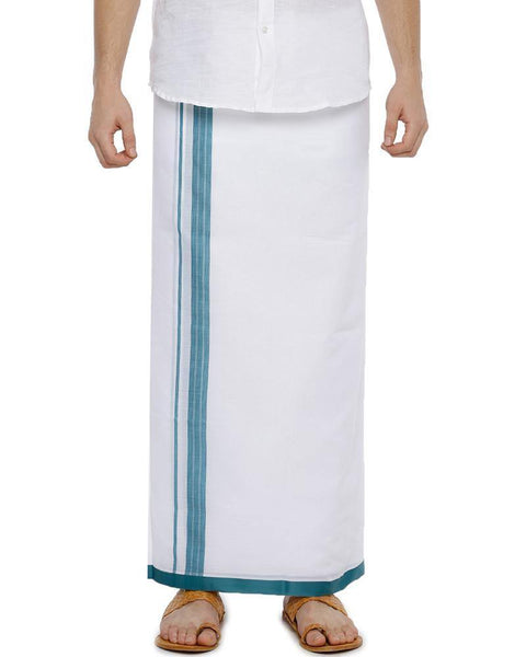 Bansi - Blue Fancy Double Dhoti