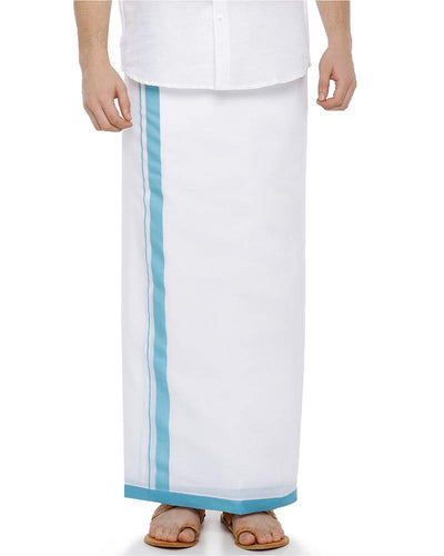Shakthi- Blue Fancy Double Dhoti