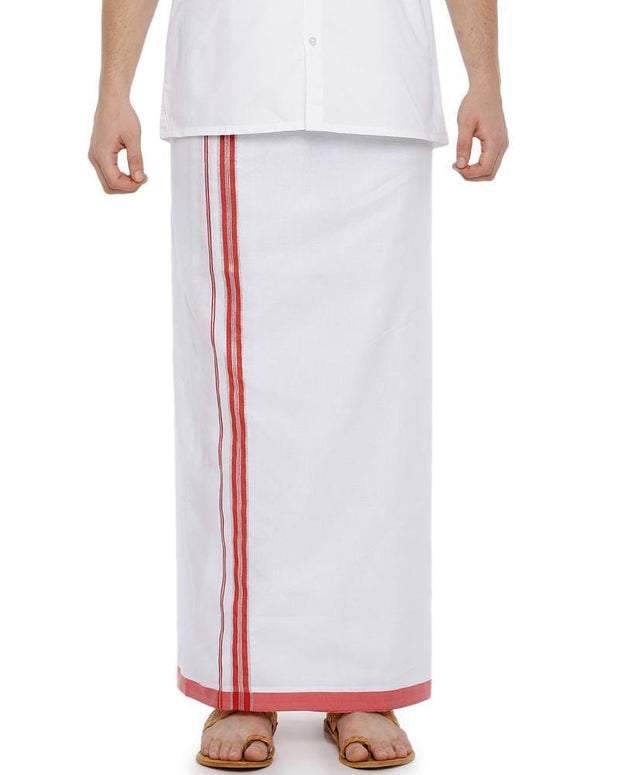 Rana Fancy - Red Fancy Single Dhoti