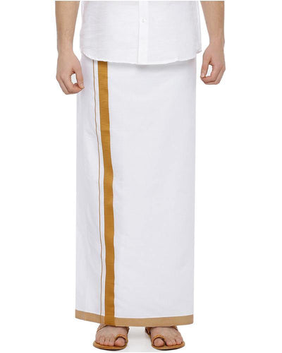 Metro Pondhu- Mustard Fancy Single Dhoti