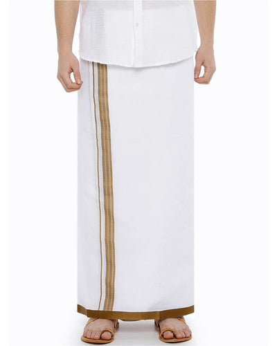 Sansui- Mustard Fancy Double Dhoti