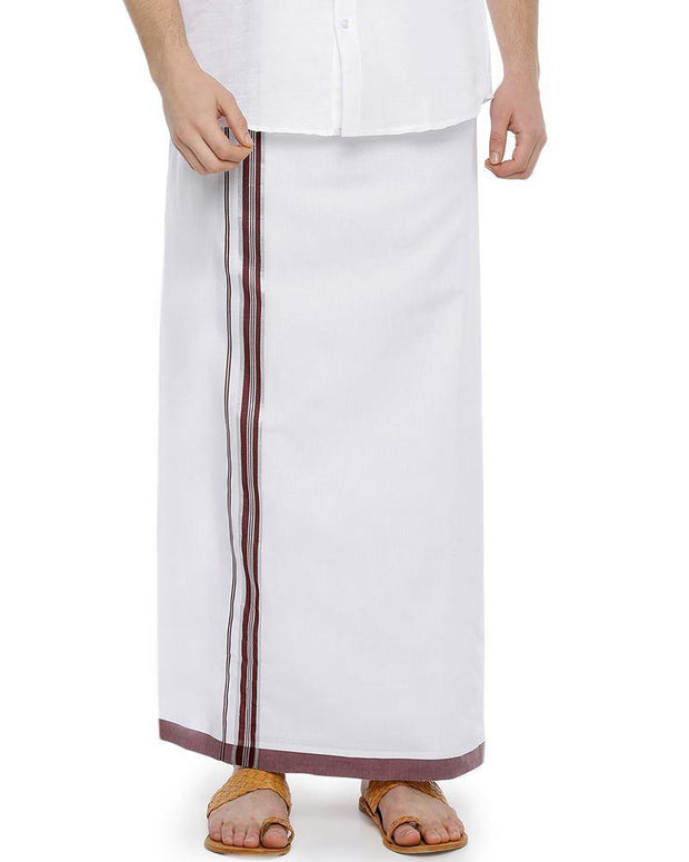 Rana Fancy - Marron Fancy Single Dhoti