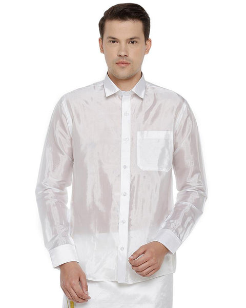 Pavithram White - Silk Shirt