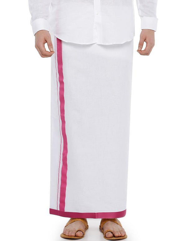 Shakthi - Pink Fancy Double Dhoti