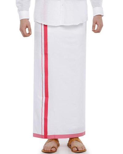 Metro Pondhu - Red Fancy Single Dhoti