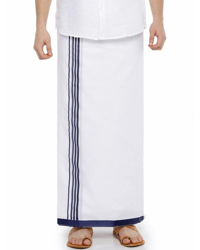 Sansui- Navy Blue Fancy Double Dhoti