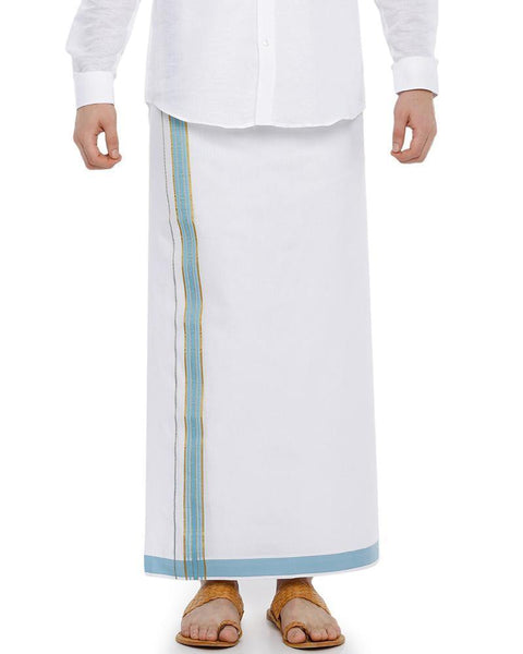 Viswasam - Blue Fancy Single Dhoti
