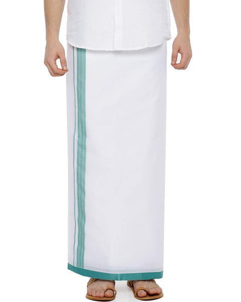 Bansi - Sky Blue Fancy Double Dhoti