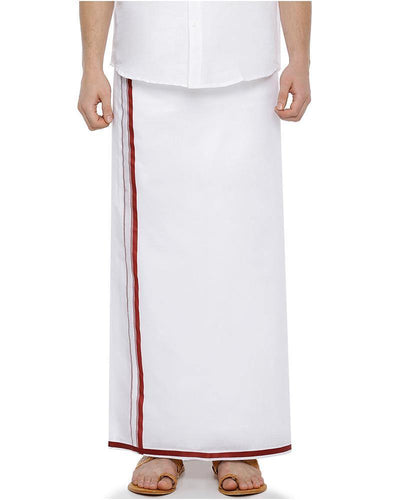 Garland -  Double Dhoti With Red Big Border