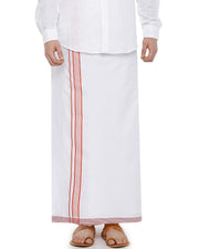 Geneva - Orange Fancy Single Dhoti