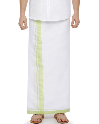 Celebrate - Green Fancy Double Dhoti