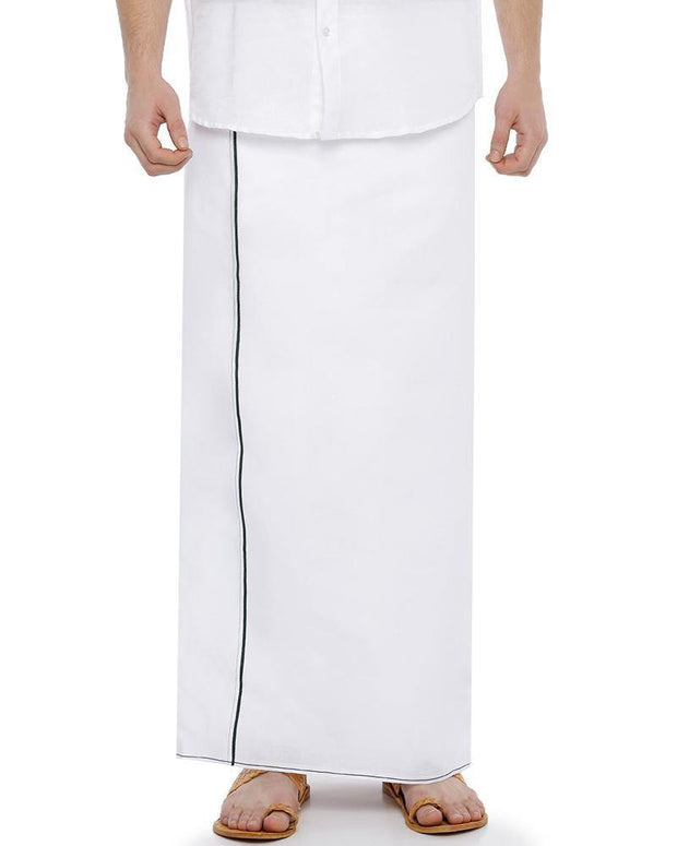 H2O- Double Dhoti With Green Small Border