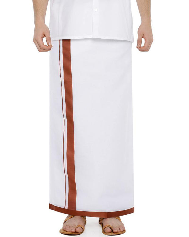 Shakthi - Brown Fancy Double Dhoti