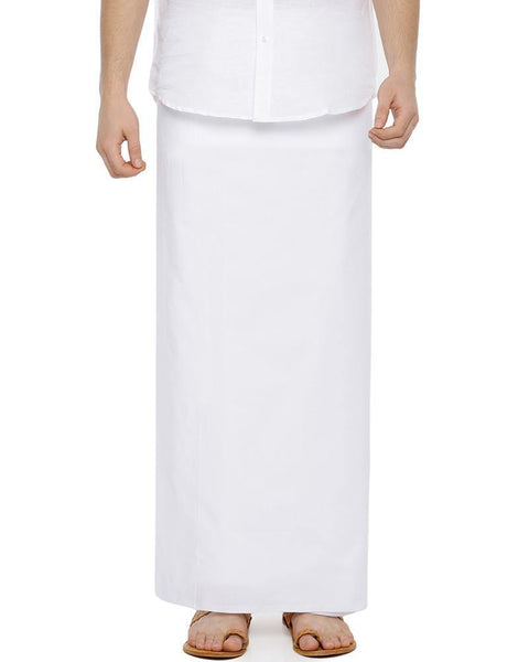 Hi-tech Paramas - White Dhoti