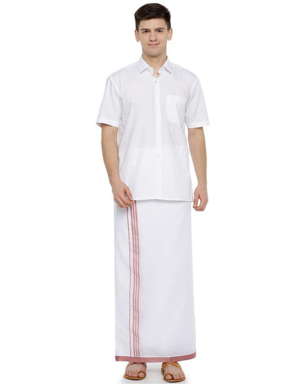 Sansui - Red Fancy Double Dhoti