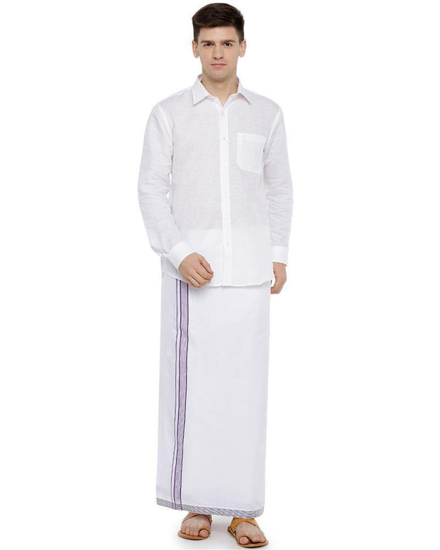 Geneva - Purple Fancy Single Dhoti