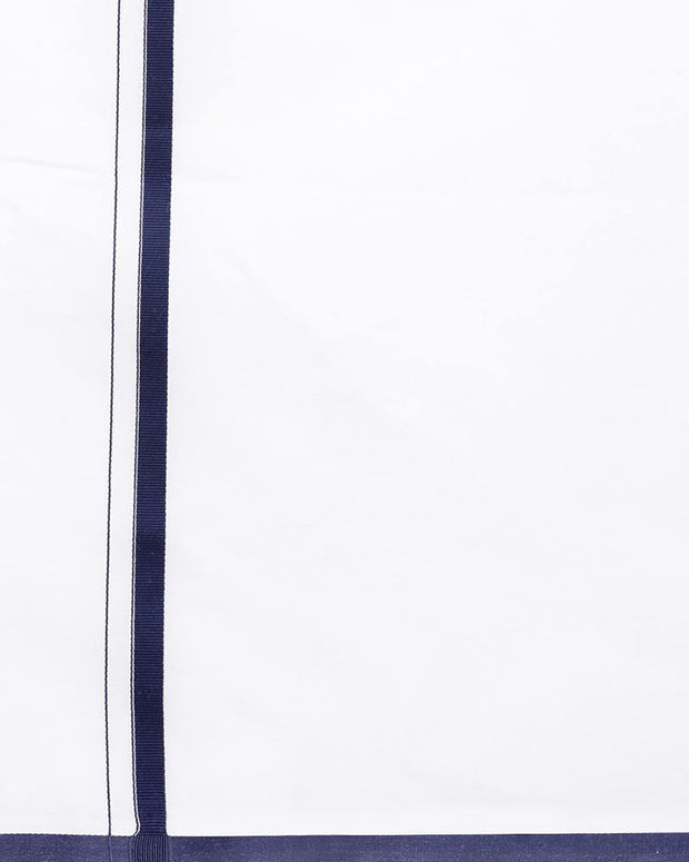 Popular - Single Dhoti With Navy Blue Big Border