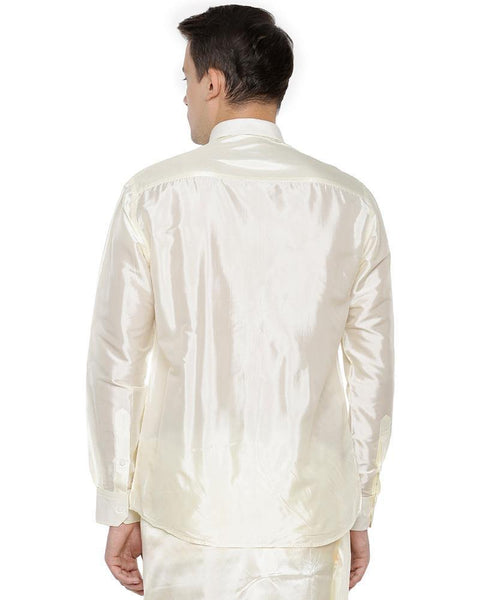 Pavithram Cream - Silk Shirt