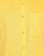 Varna Fancy Border Dhoti & Shirt Set Half Sleeves Yellow