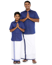 Varna Father & Son Navy Blue Combo Sets