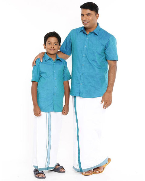 Varna Father & Son Ramar Blue Combo Sets