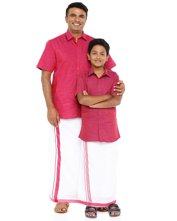 Varna Father & Son Soft Red Combo Sets