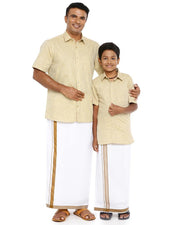 Varna Father & Son Tan Combo Sets