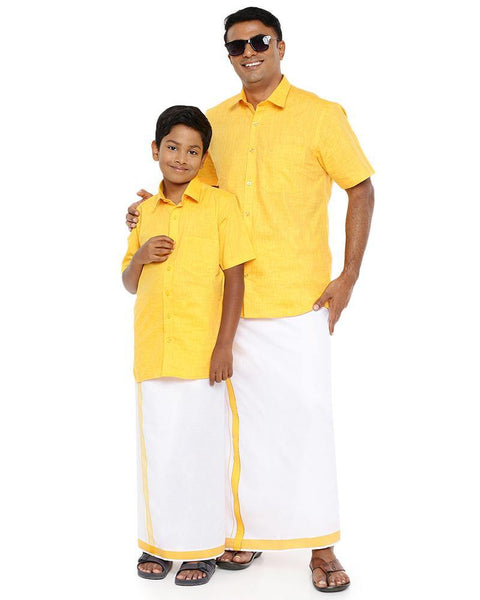 Varna Father & Son Yellow  Combo Sets