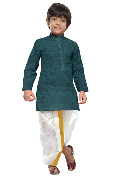 RamarGreen Kids Kurta + Panchakacham 2in1 Set